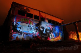 mural on abandoned area